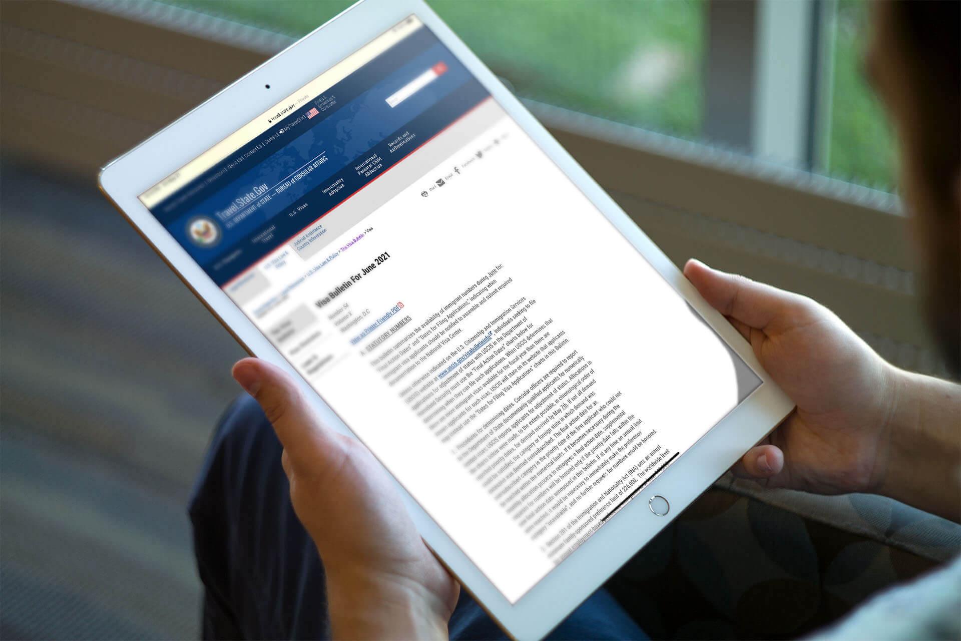 US: Department of State Releases June 2021 Visa Bulletin